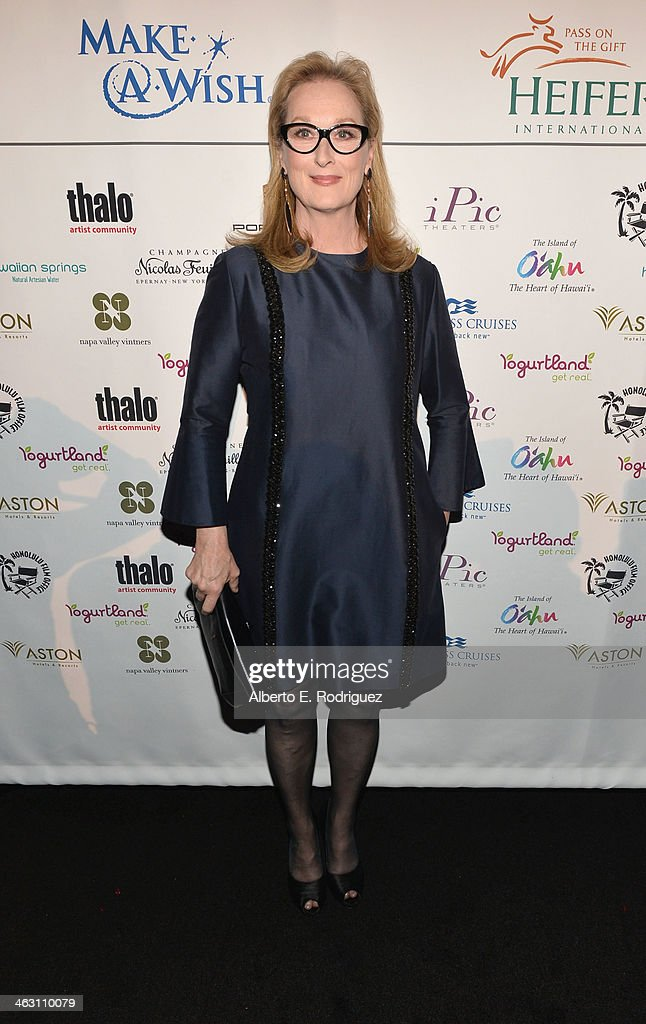 Actress <a gi-track='captionPersonalityLinkClicked' href=/galleries/search?phrase=Meryl+Streep&family=editorial&specificpeople=171097 ng-click='$event.stopPropagation()'>Meryl Streep</a> attends 19th Annual Critics' Choice Movie Awards at Barker Hangar on January 16, 2014 in Santa Monica, California.