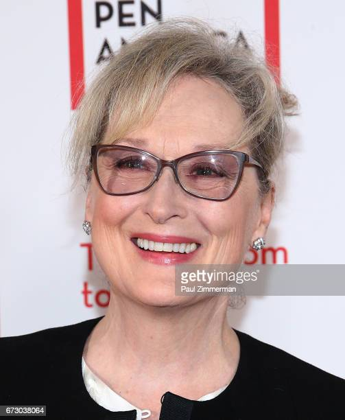 Actress Meryl Streep attends PEN America's 2017 Literary Gala Red Carpet at American Museum of Natural History on April 25 2017 in New York City