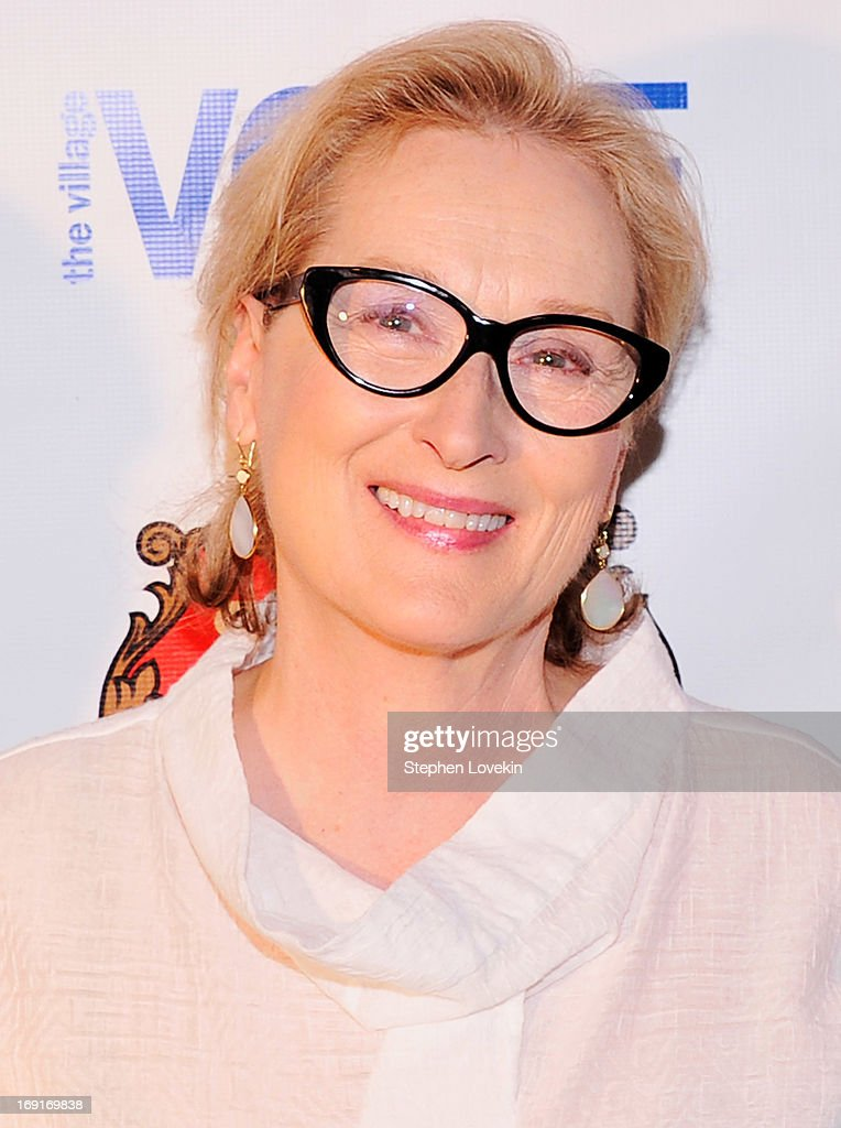 Actress <a gi-track='captionPersonalityLinkClicked' href=/galleries/search?phrase=Meryl+Streep&family=editorial&specificpeople=171097 ng-click='$event.stopPropagation()'>Meryl Streep</a> attends The 2013 Obie Awards at Webster Hall on May 20, 2013 in New York City.
