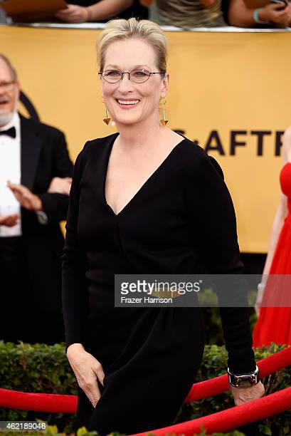 Actress Meryl Streep attends the 21st Annual Screen Actors Guild Awards at The Shrine Auditorium on January 25 2015 in Los Angeles California