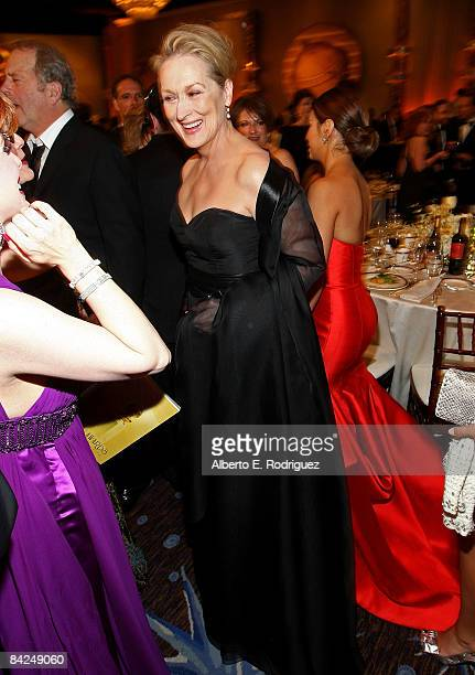 Actress Meryl Streep attends the 66th Golden Globe Awards held at the Beverly Hilton Hotel on January 11 2009 in Beverly Hills California