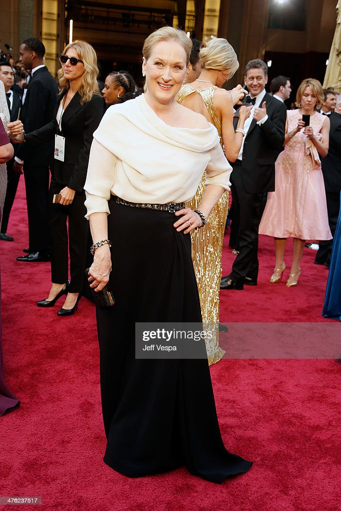 Actress Meryl Streep attends the 86th Oscars held at Hollywood & Highland Center on March 2, 2014 in Hollywood, California.