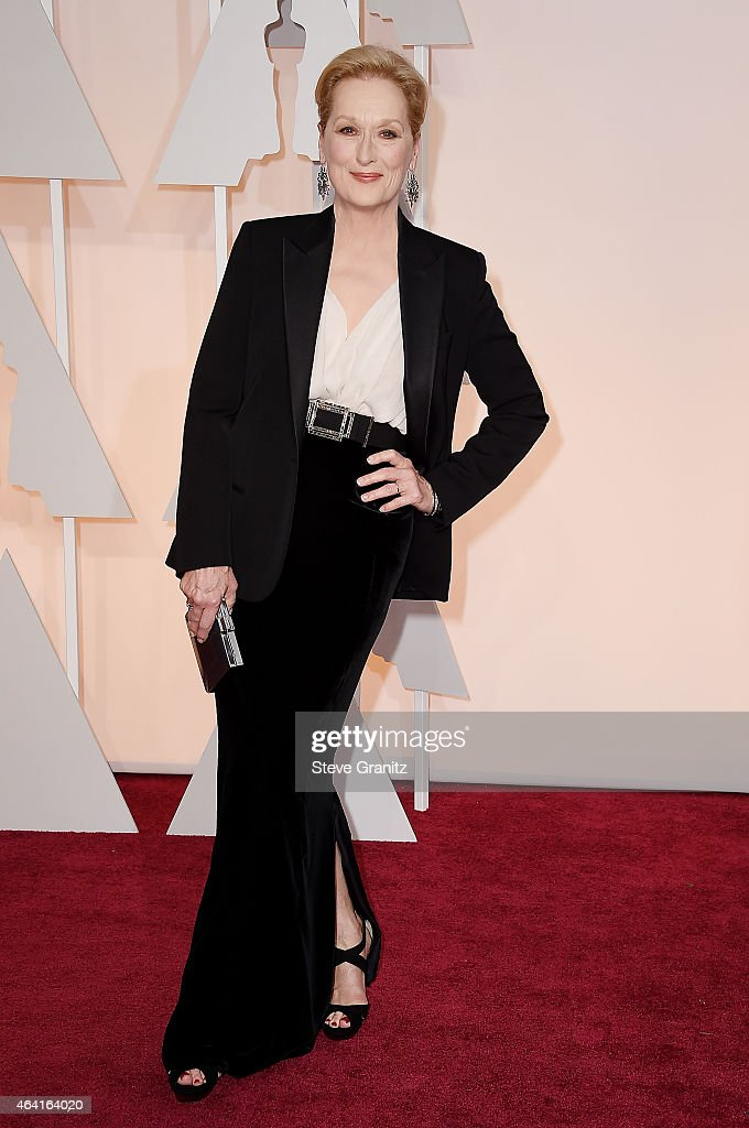 Actress <a gi-track='captionPersonalityLinkClicked' href=/galleries/search?phrase=Meryl+Streep&family=editorial&specificpeople=171097 ng-click='$event.stopPropagation()'>Meryl Streep</a> attends the 87th Annual Academy Awards at Hollywood & Highland Center on February 22, 2015 in Hollywood, California.