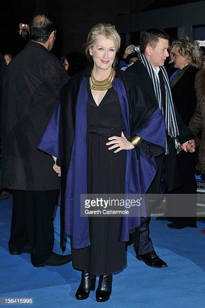 Actress Meryl Streep attends the European Premiere of The Iron Lady at BFI Southbank on January 4 2012 in London England
