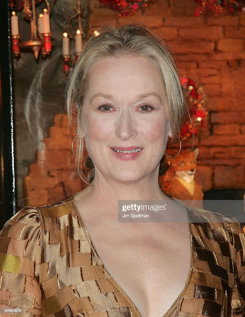 Actress Meryl Streep attends the 'Fantastic Mr. Fox' premiere at Bergdorf Goodman on November 10, 2009 in New York City.