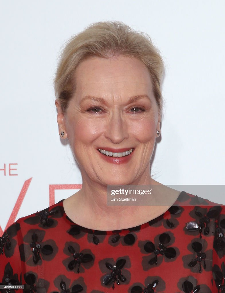 Actress <a gi-track='captionPersonalityLinkClicked' href=/galleries/search?phrase=Meryl+Streep&family=editorial&specificpeople=171097 ng-click='$event.stopPropagation()'>Meryl Streep</a> attends 'The Giver' premiere at Ziegfeld Theater on August 11, 2014 in New York City.