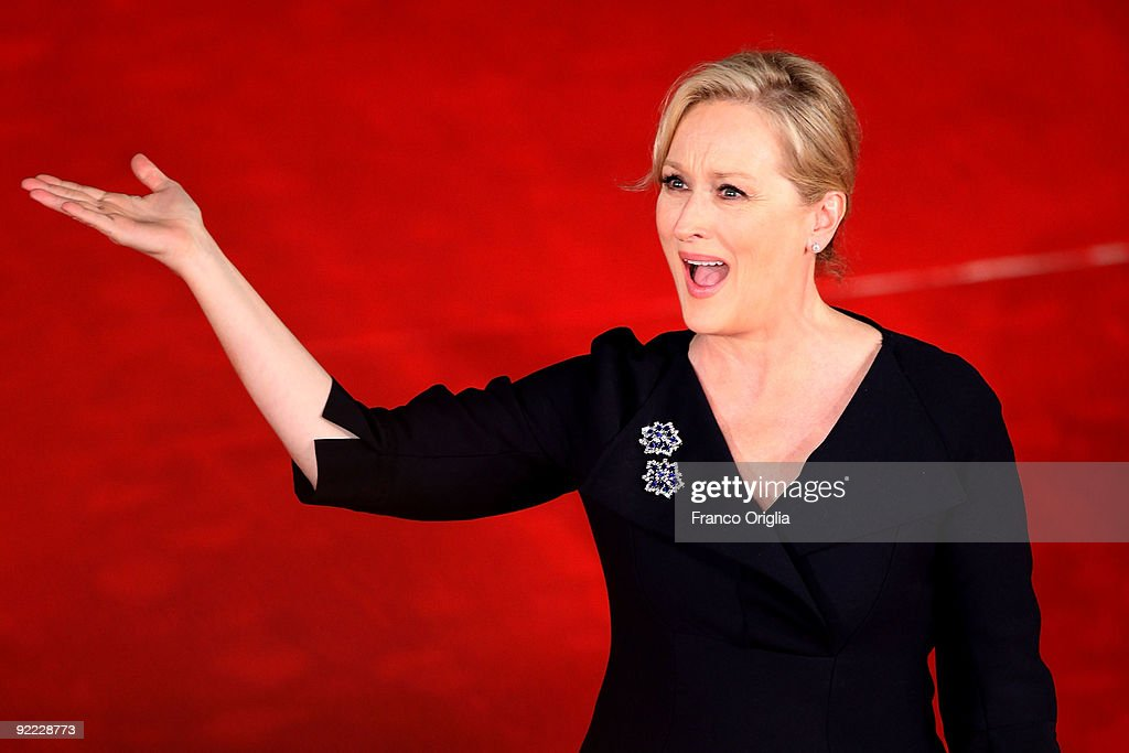Actress Meryl Streep attends the 'Julie&Julia' Premiere during Day 8 of the 4th International Rome Film Festival held at the Auditorium Parco della Musica on October 22, 2009 in Rome, Italy.