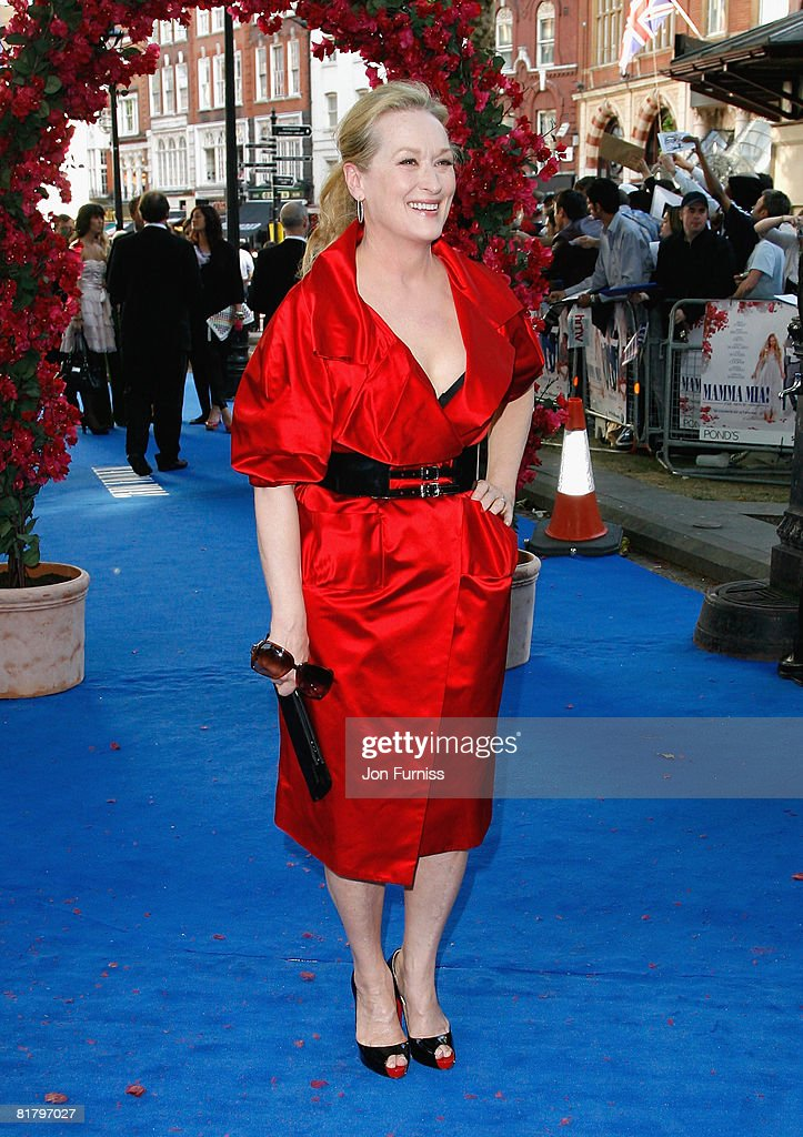 Actress Meryl Streep attends the Mamma Mia! The Movie world premiere held at the Odeon Leicester Square on June 30, 2008 in London, England.