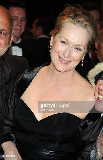 Actress Meryl Streep attends the official HBO after party for the 66th Annual Golden Globe Awards held at Circa 55 Restaurant Poolside at the Beverly...