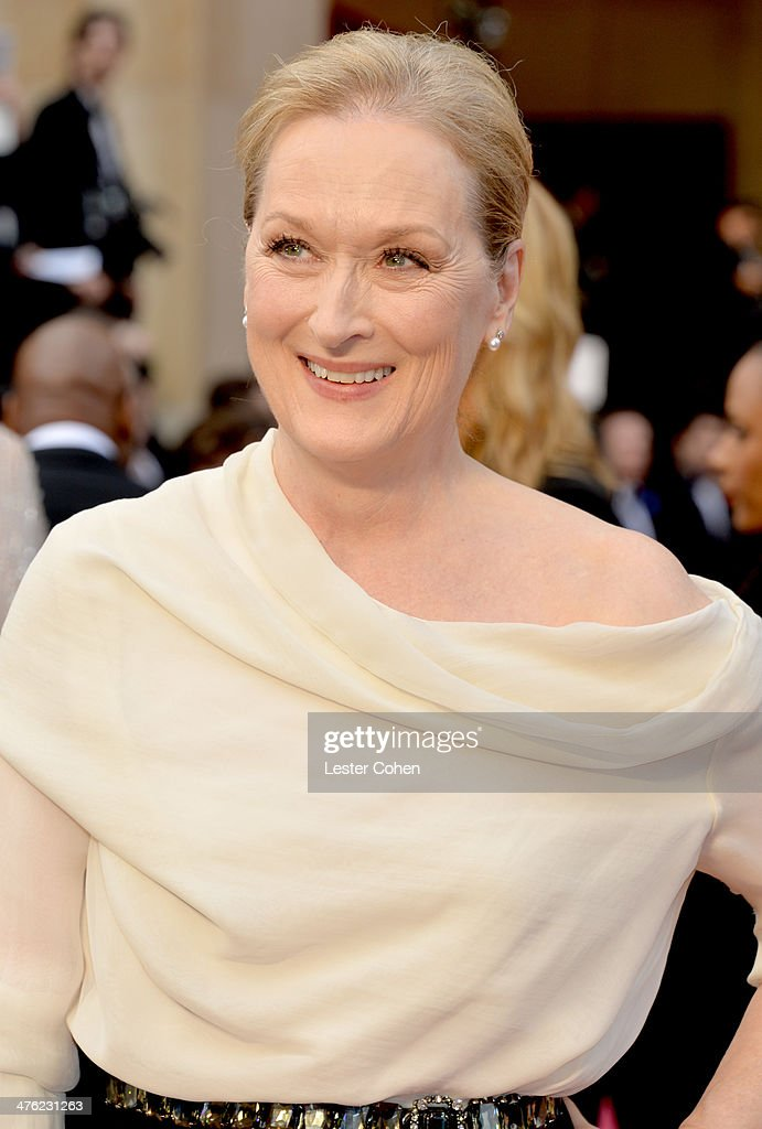 Actress Meryl Streep attends the Oscars held at Hollywood & Highland Center on March 2, 2014 in Hollywood, California.
