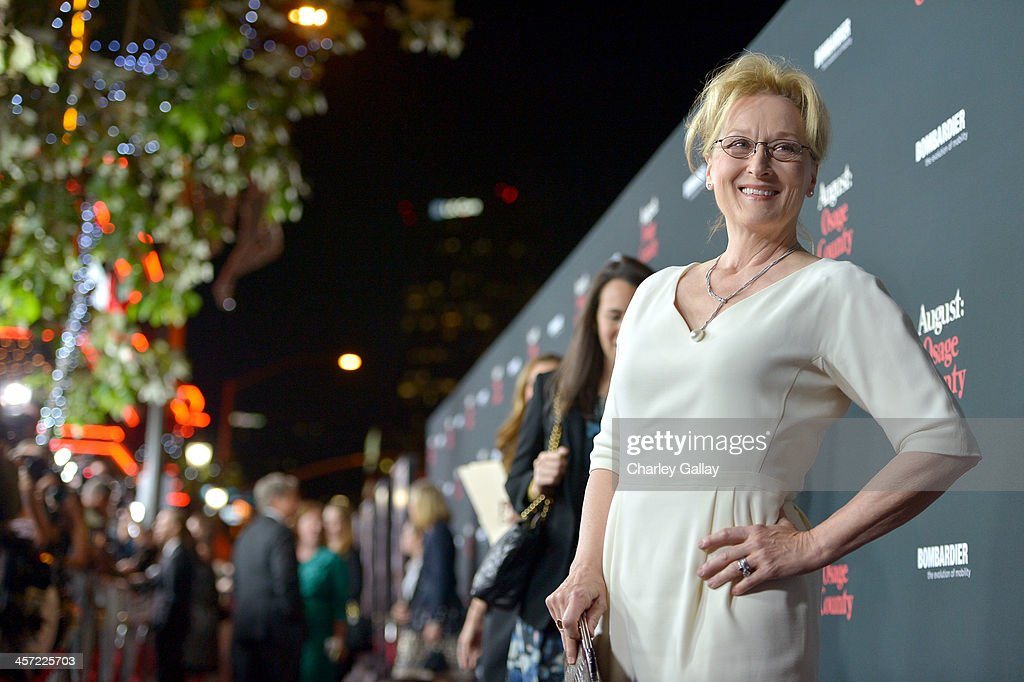 Actress Meryl Streep attends the LA premiere Of 'August: Osage County' presented by The Weinstein Company in partnership with Bombardier at Regal Cinemas L.A. Live on December 16, 2013 in Los Angeles, California.