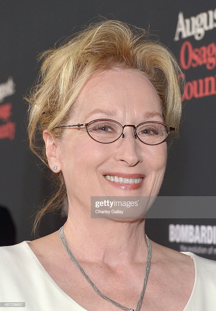 Actress <a gi-track='captionPersonalityLinkClicked' href=/galleries/search?phrase=Meryl+Streep&family=editorial&specificpeople=171097 ng-click='$event.stopPropagation()'>Meryl Streep</a> attends the LA premiere Of 'August: Osage County' presented by The Weinstein Company in partnership with Bombardier at Regal Cinemas L.A. Live on December 16, 2013 in Los Angeles, California.