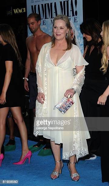 Actress Meryl Streep attends the premiere of 'Mamma Mia' at the Ziegfeld Theatre on July 16 2008 in New York City