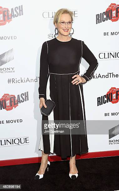 Actress Meryl Streep attends the 'Ricki And The Flash' New York premiere at AMC Lincoln Square Theater on August 3 2015 in New York City