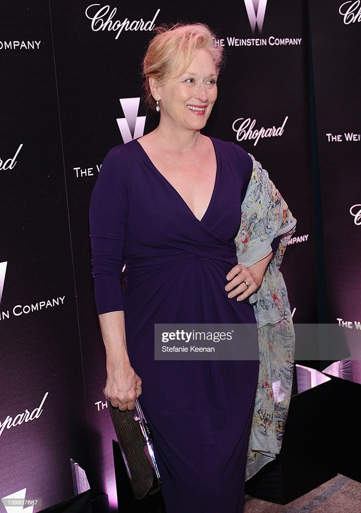 Actress <a gi-track='captionPersonalityLinkClicked' href=/galleries/search?phrase=Meryl+Streep&family=editorial&specificpeople=171097 ng-click='$event.stopPropagation()'>Meryl Streep</a> attends the Weinstein Company celebrates the 2012 Academy Awards presented by Chopard at Soho House on February 25, 2012 in West Hollywood, California.