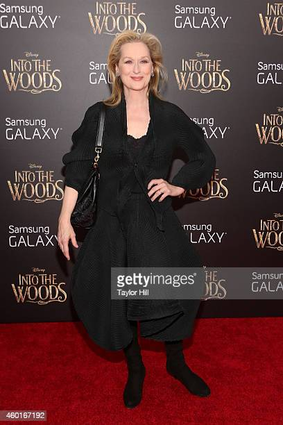 Actress Meryl Streep attends the world premiere of Disney's 'Into the Woods' at Ziegfeld Theater on December 8 2014 in New York City