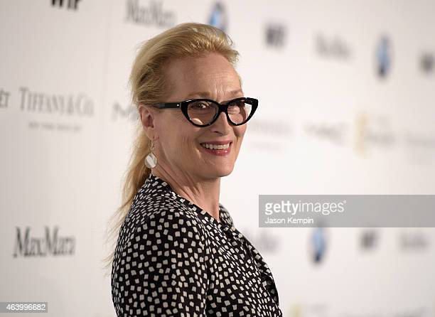 Actress Meryl Streep attends Women In Film PreOscar Cocktail Party presented by MaxMara BMW Tiffany Co MAC Cosmetics and PerrierJouet at Hyde Sunset...