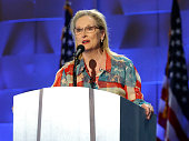 Actress Meryl Streep delivers remarks on the second day of the 2016 Democratic National Convention at Wells Fargo Center on July 26 2016 in...