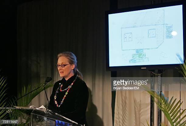 Actress Meryl Streep speaks at the Kagenoorg benefit at Guastavino's October 30 2006 in New York City