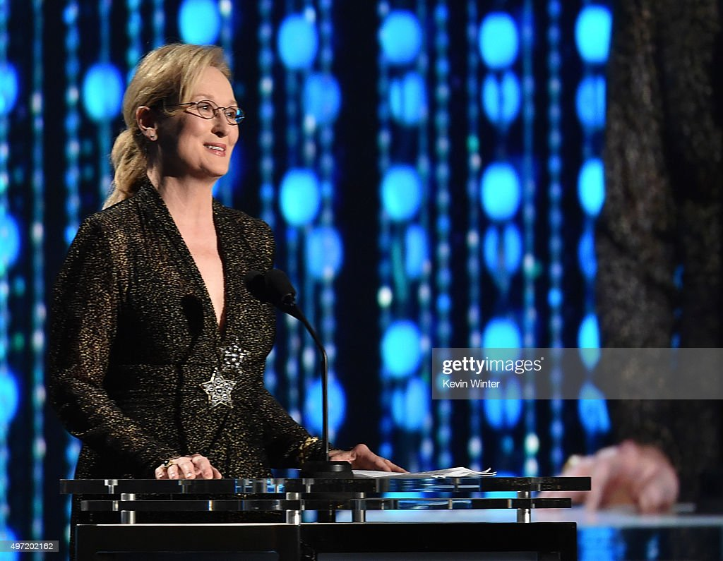 Actress Meryl Streep speaks onstage during the Academy of Motion Picture Arts and Sciences' 7th annual Governors Awards at The Ray Dolby Ballroom at Hollywood & Highland Center on November 14, 2015 in Hollywood, California.