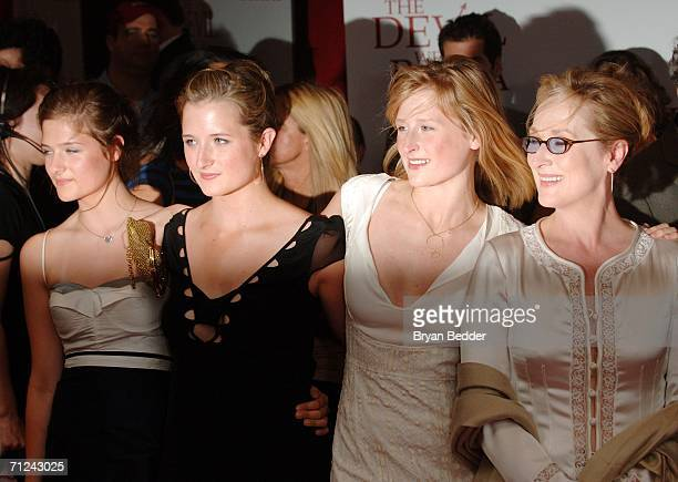 Actress Meryl Streep with her daughters attend the 20th Century Fox premiere of The Devil Wears Prada at the Loews Lincoln Center Theatre on June 19...
