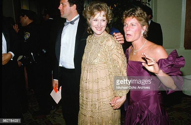 Actress Meryl Streep with husband Don Gummer arrive to the 55th Academy Awards at Dorothy Chandler Pavilion in Los AngelesCalifornia