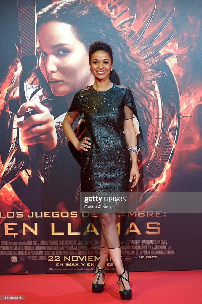 Actress <a gi-track='captionPersonalityLinkClicked' href=/galleries/search?phrase=Meta+Golding&family=editorial&specificpeople=741043 ng-click='$event.stopPropagation()'>Meta Golding</a> attends the Spanish premiere of the film 'The Hunger Games - Catching Fire' (Los Juegos Del Hambre: En Llamas) at the Callao cinema on November 13, 2013 in Madrid, Spain.