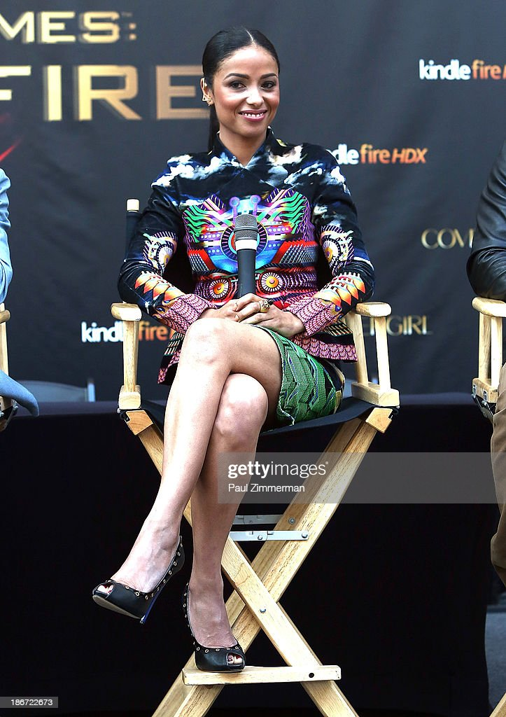 Actress Meta Golding attends the 'The Hunger Games: Catching Fire' mall tour at Cherry Hill Mall on November 3, 2013 in Cherry Hill, New Jersey.
