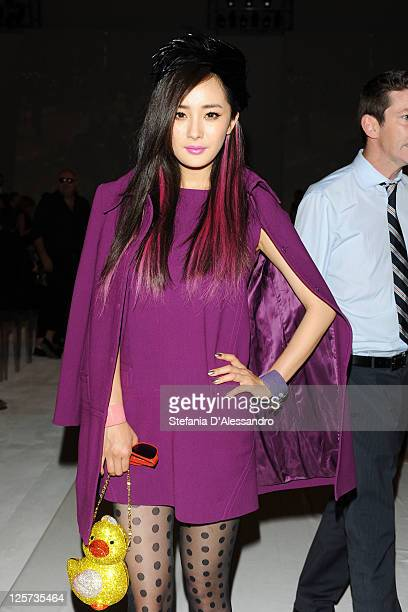 Actress Mi Yang attends the Alberta Ferretti Spring/Summer 2012 fashion show as part Milan Womenswear Fashion Week on September 21 2011 in Milan Italy