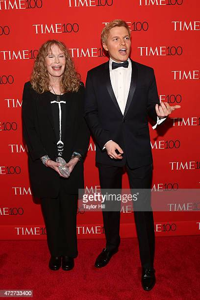 Actress Mia Farrow and TV personality Ronan Farrow attend the 2015 Time 100 Gala at Frederick P Rose Hall Jazz at Lincoln Center on April 21 2015 in...