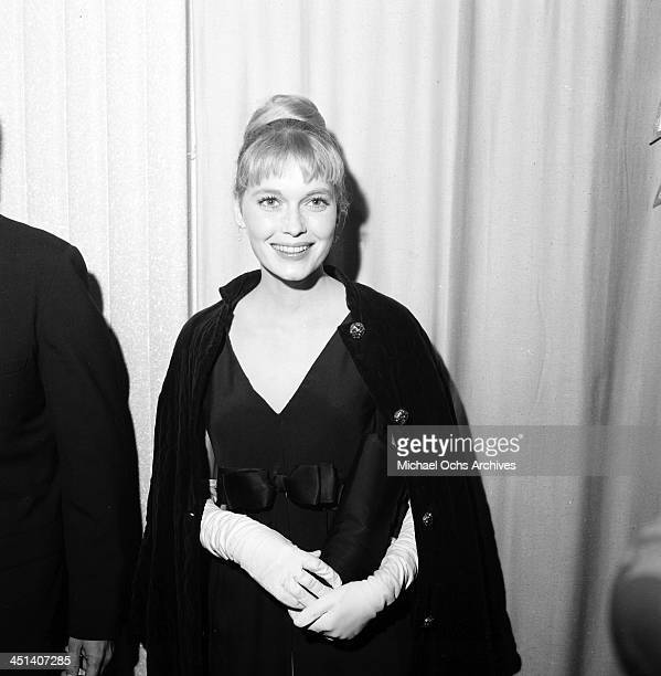 Actress Mia Farrow attends a party in Los Angeles California