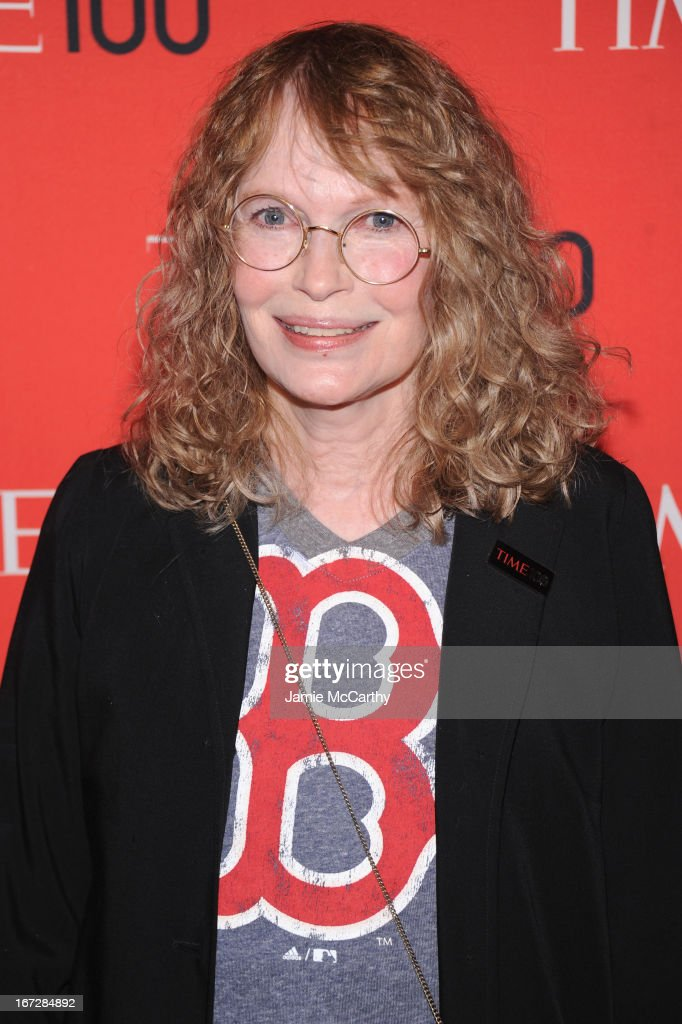 Actress <a gi-track='captionPersonalityLinkClicked' href=/galleries/search?phrase=Mia+Farrow&family=editorial&specificpeople=93764 ng-click='$event.stopPropagation()'>Mia Farrow</a> attends the 2013 Time 100 Gala at Frederick P. Rose Hall, Jazz at Lincoln Center on April 23, 2013 in New York City.