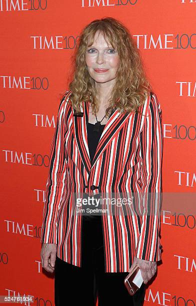 Actress Mia Farrow attends the 2016 Time 100 Gala at Frederick P Rose Hall Jazz at Lincoln Center on April 26 2016 in New York City