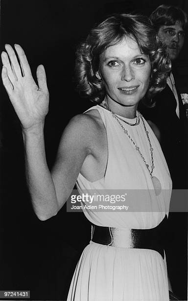 Actress Mia Farrow attends the premiere of her movie 'Hurricane' at the Egyption Theatre on April 11 1979 in Los Angeles California