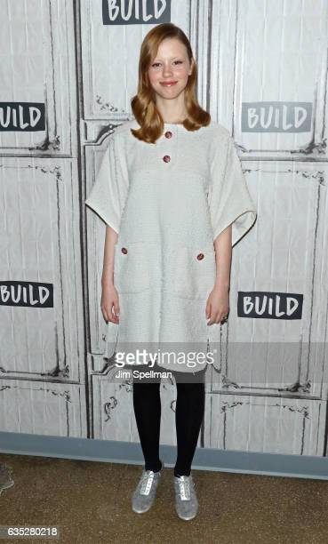 Actress Mia Goth attends the Build series to discuss 'A Cure For Wellness' at Build Studio on February 14 2017 in New York City