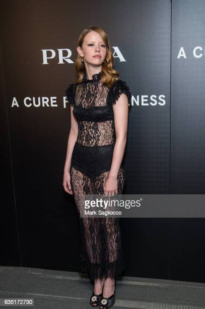 Actress Mia Goth attends the Cinema Society Screening Of 'A Cure For Wellness' at Landmark's Sunshine Cinema on February 13 2017 in New York City