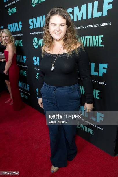 Actress Mia Kaplan arrives for the Premiere Of Showtime's 'SMILF' at the Harmony Gold Theater on October 9 2017 in Los Angeles California