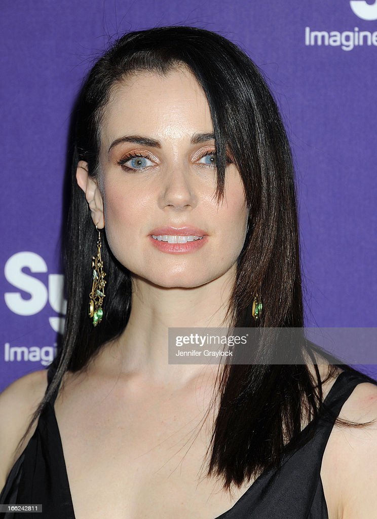 Actress Mia Kirshner attends the Syfy 2013 Upfront at Silver Screen Studios at Chelsea Piers on April 10, 2013 in New York City.