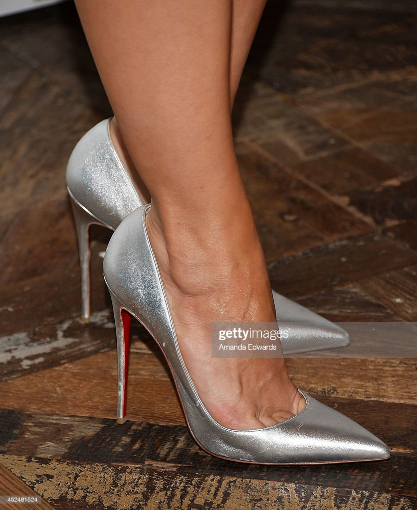 Actress Mia Maestro (shoe detail) arrives at the 2014 Television Critics Association Summer Press Tour - FOX All-Star Party at Soho House on July 20, 2014 in West Hollywood, California.