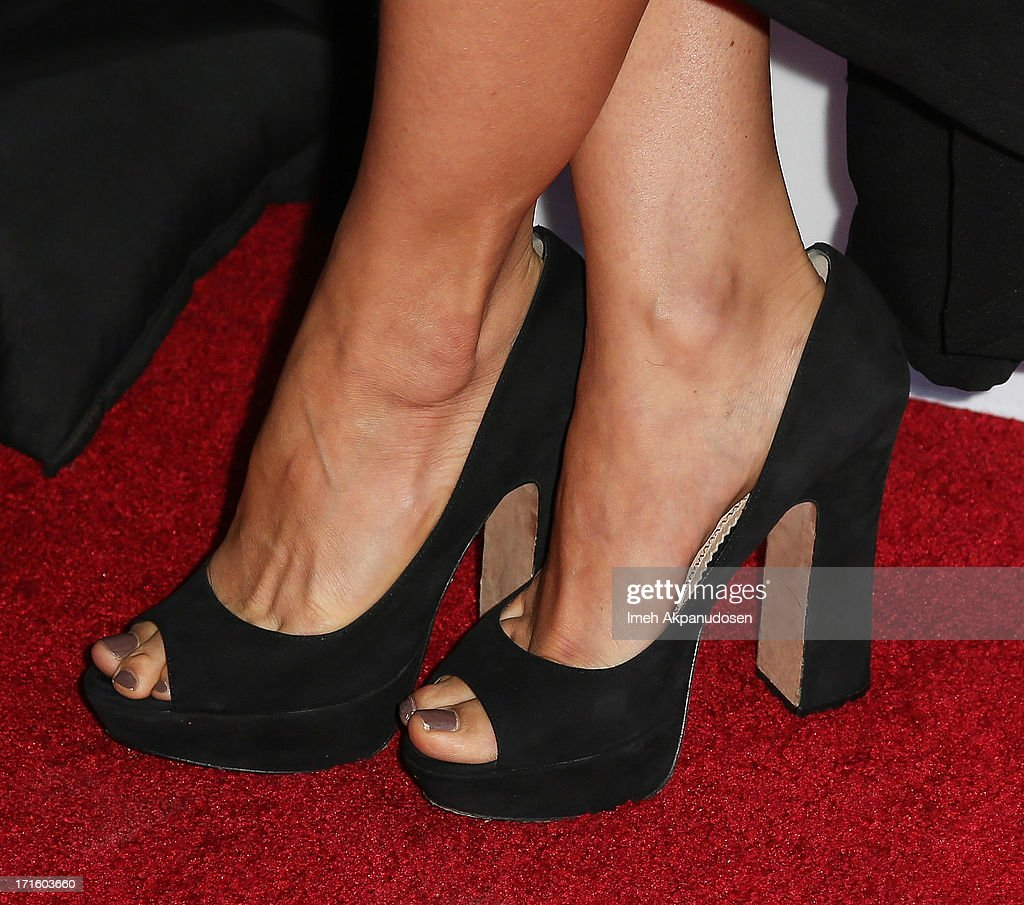 Actress Mia Maestro (shoe detail) attends the premiere of 'Some Girl(s)' at Laemmle NoHo 7 on June 26, 2013 in North Hollywood, California.
