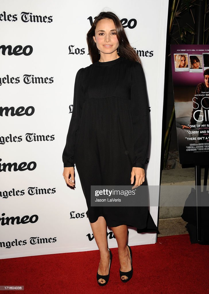 Actress <a gi-track='captionPersonalityLinkClicked' href=/galleries/search?phrase=Mia+Maestro&family=editorial&specificpeople=206317 ng-click='$event.stopPropagation()'>Mia Maestro</a> attends the premiere of 'Some Girl(s)' at Laemmle NoHo 7 on June 26, 2013 in North Hollywood, California.