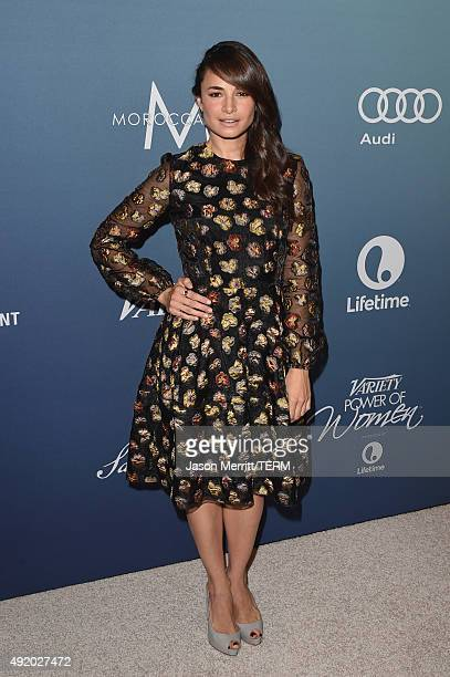 Actress Mia Maestro attends Variety's Power Of Women Luncheon at the Beverly Wilshire Four Seasons Hotel on October 9 2015 in Beverly Hills California