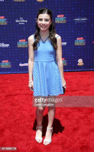 Actress Mia Sinclair Jenness attends the 2017 Radio Disney Music Awards at Microsoft Theater on April 29 2017 in Los Angeles California