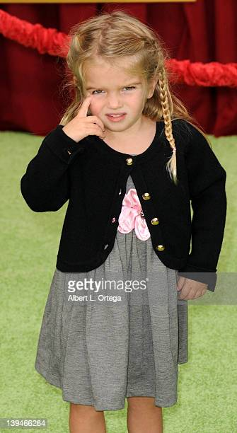 Actress Mia Talerico arrives for 'The Muppet' Los Angeles Premiere held at the El Capitan Theatre on November 12 2011 in Hollywood California