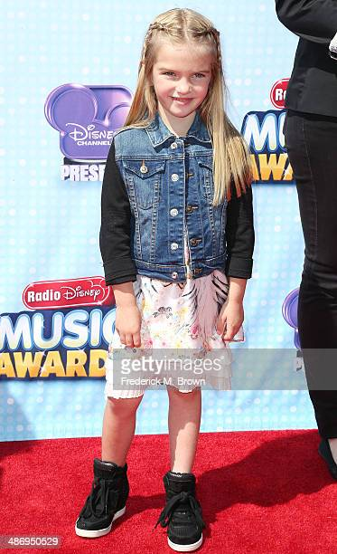 Actress Mia Talerico attends the 2014 Radio Disney Music Awards at the Nokia Theatre LA Live on April 26 2014 in Los Angeles California