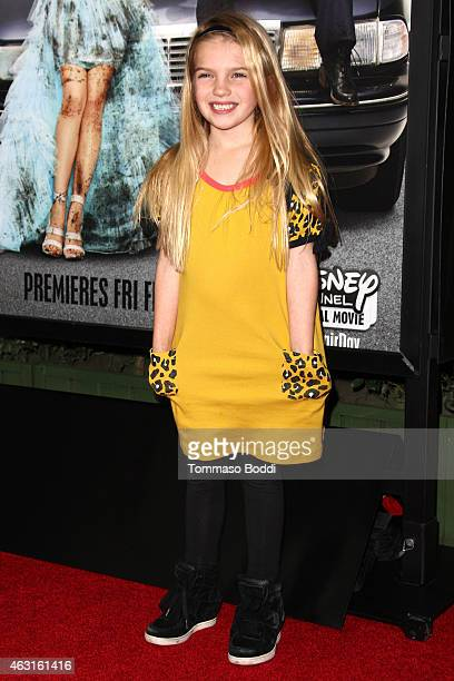 Actress Mia Talerico attends the Disney Channel Original Movie 'Bad Hair Day' Los Angeles premiere held at the Walt Disney Studios on February 10...