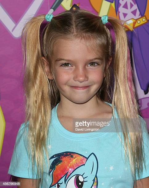 Actress Mia Talerico attends the premiere of Hasbro Studios' 'My Little Pony Equestria Girls Rainbow Rocks' at the TCL Chinese 6 Theatres on...