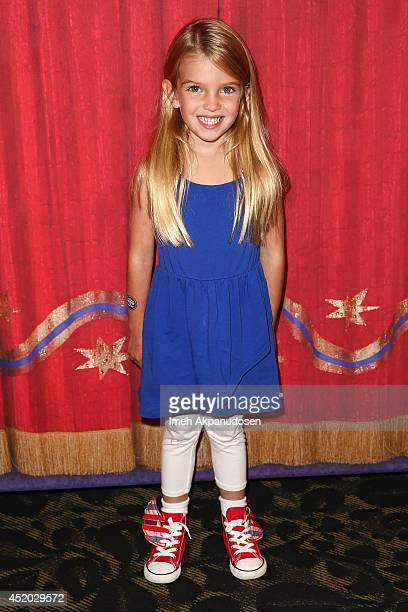 Actress Mia Talerico attends the premiere of Ringling Bros and Barnum Bailey's 'Legends' at Staples Center on July 10 2014 in Los Angeles California