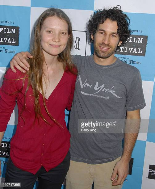 Actress Mia Wasikowska and director Spencer Susser at the 2008 Los Angeles Film Festival Shorts Program held at the Mann Festival Theatre on June 22...