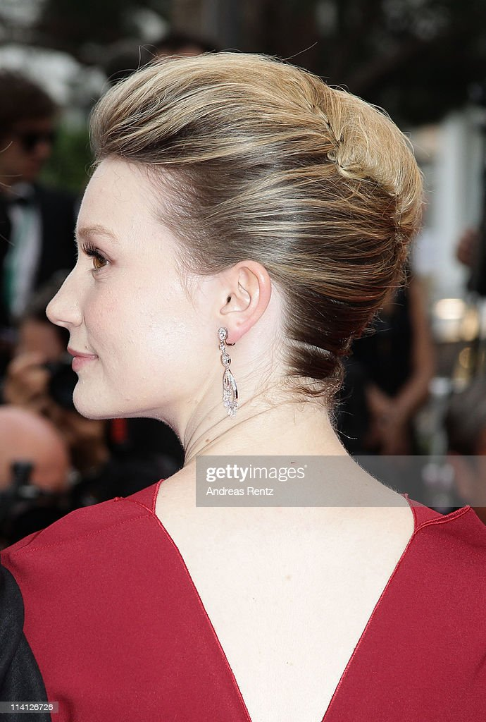 Actress Mia Wasikowska arrives at the 'Restless' premiere during the 64th Annual Cannes Film Festival at the Palais des Festivals on May 12, 2011 in Cannes, France.